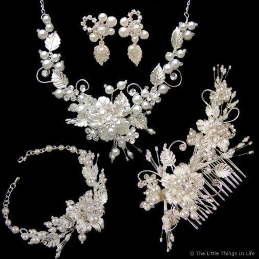 Grace Complete Wedding Jewellery Set (Silver) £105