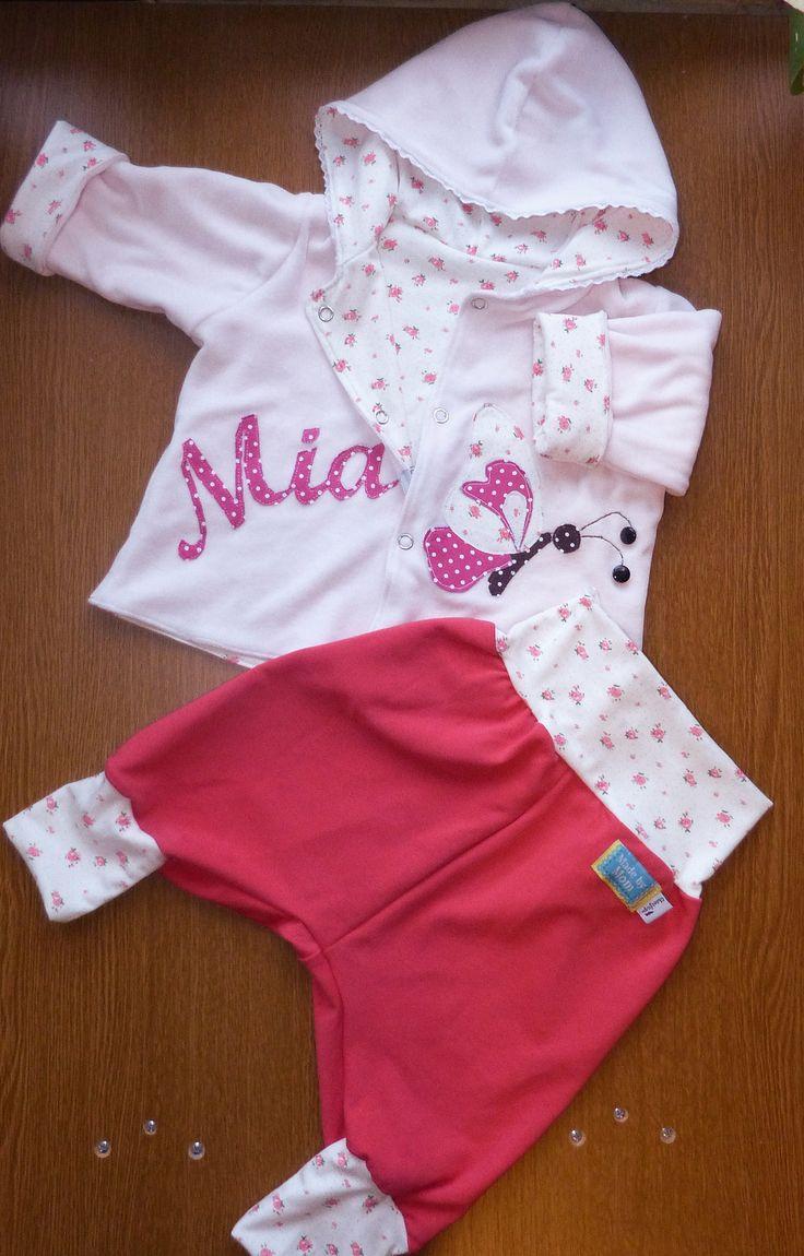 baby girl set, reversible jacket and harem pant