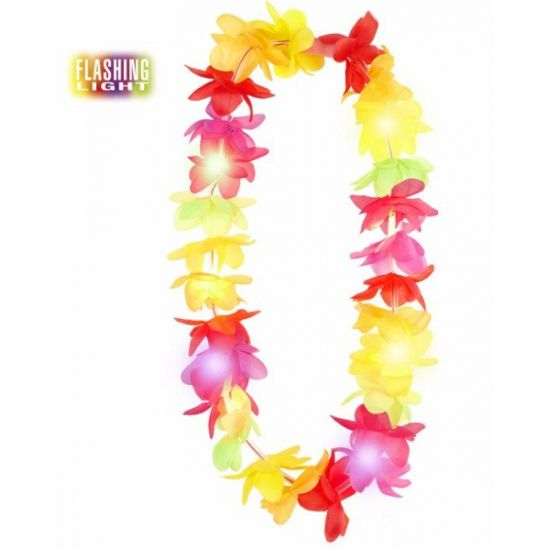Lichtgevende Hawaii krans. Hawaii of tropisch feestje? Bij Fun en Feest vind je de leukste Hawaii feestartikelen, kostuums en accessoires. Toppers Crazy Summer accessoires tip!