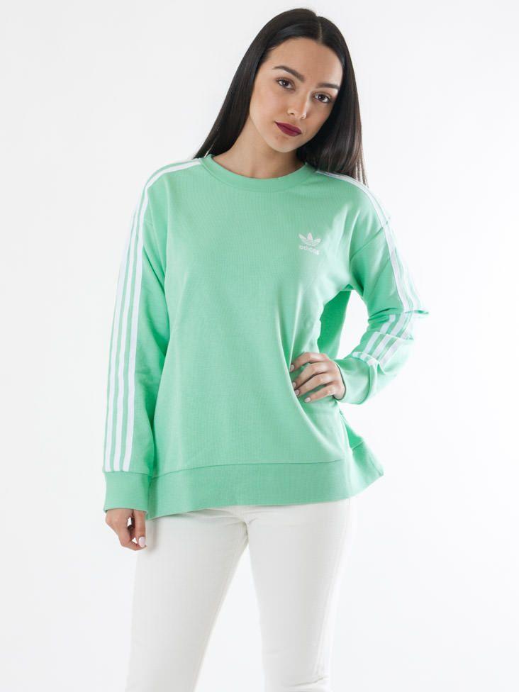 Scopri Felpe girocollo 3 Stripes A-line Sweat Adidas Donna. Approfitta delle migliori offerte Streetwear e Sneakers e Acquista Online su Moveshop.it!