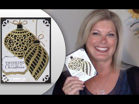 手机壳定制online shoe boutique How to make a Stampin Up Delicate Ornament Glimmer Christmas Wow Card