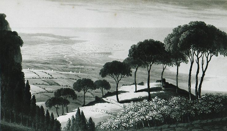 Panoramic View of Beirut from Mount Lebanon, 1829 (Osmanlı Dönemi Beyrut, Lübnan)