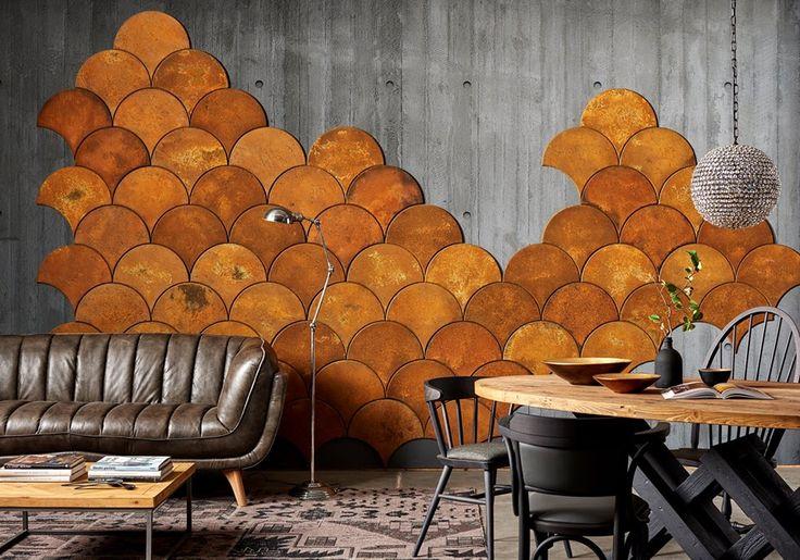 Мебель Dialma Brown, стол, диван,плитка чешуя, деревянная мебель лофт, винтаж, loft vintage furniture by Dialma Brown, table, leather sofa #idcollection