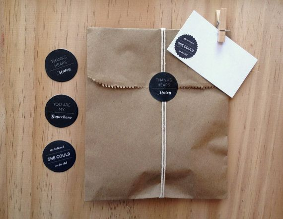 Small Favour Bag Kit of 6  Say Thanks by ToodlesNoodles on Etsy, $14.50