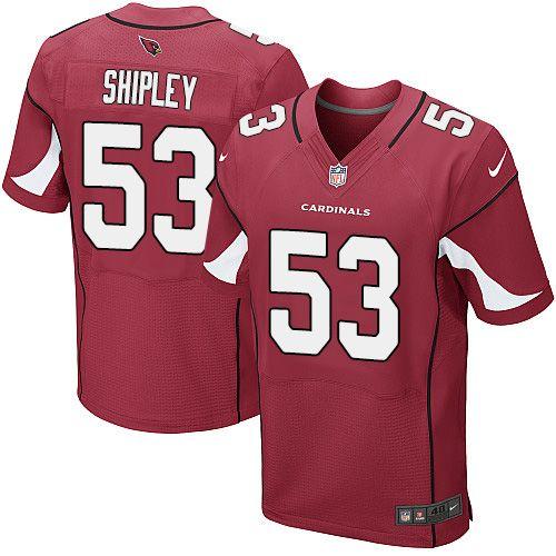 Men's Nike Arizona Cardinals #53 A.Q. Shipley Elite Red Team Color NFL Jersey