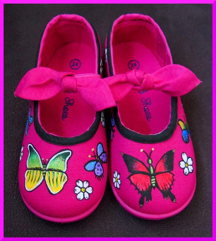 Zapatillas pintadas a mano: Mariposas