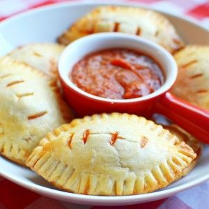 Football Pizza Pockets by PictureTheRecipe com
