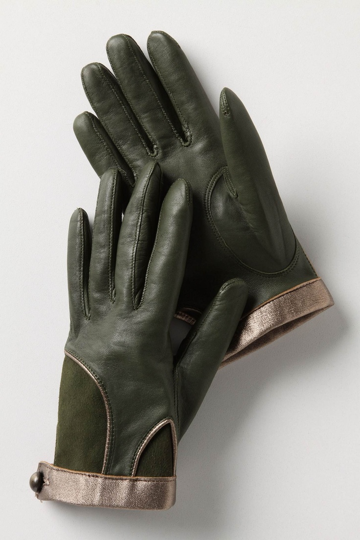 Buy leather gloves perth - Jardin Des Plantes Side Plate Fancy Handsgreen Glovesleather