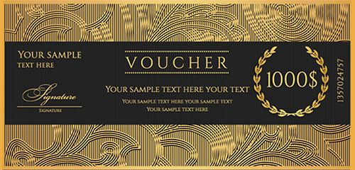 Black and Gold Gift Certificate Template