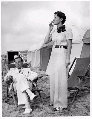1930's Fashion - are they on safari, fancy tent party, what? I love this picture because it is evocative of days gone past