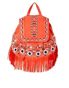 ASOS Fringe Detail Backpack