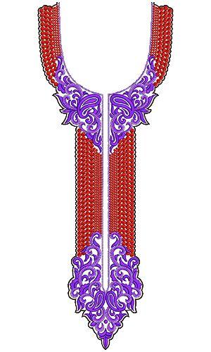 9628 Neck Embroidery Design