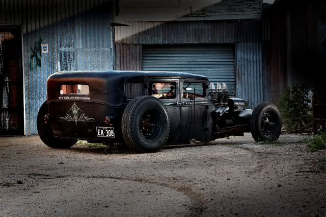 This Ford Model A rat rod is the epitome of the phrase Low Rider.