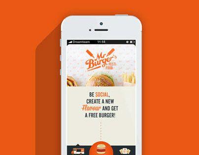 """다음 @Behance 프로젝트 확인: """"Mr. Burger"""