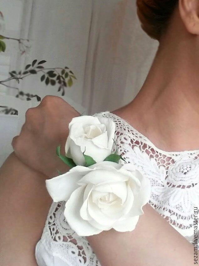 """Купить Браслет невесты """"На счастье"""" - белый, молочный, жемчужный, свадьба, браслет для невесты"""