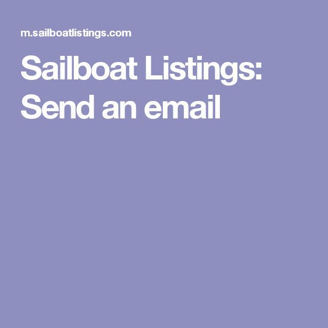 Sailboat Listings: Send an email