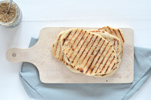 Naanbrood van 2 ingrediënten, Eens proberen met algemeen glutenvrije bloem (met bakpoeder of zo?)