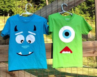 Monster's INC Sully and Mike shirts-CHILDREN SIZES
