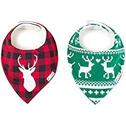 "Ziggy Baby Bandana Bibs for Teething Drool, 2 Pack ""Lodge Collection"" Gift Set"