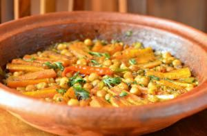 carrot and chickpea tagine - Christine Benlafquih