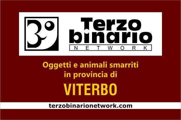 Oggetti e animali smarriti in provincia di Viterbo