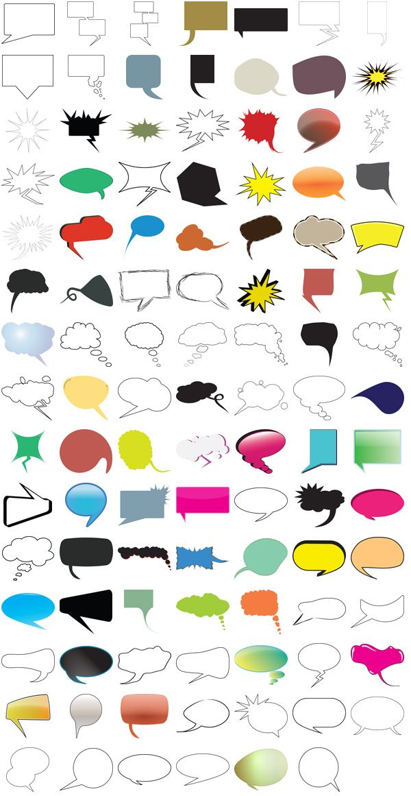 Thought and Speech Bubbles Pack – 104 Free Vectors and Images | Media Militia - awesome