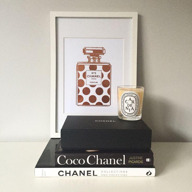 Copper Foil Prints  #copper #chanel #bookstack #interiors #styling