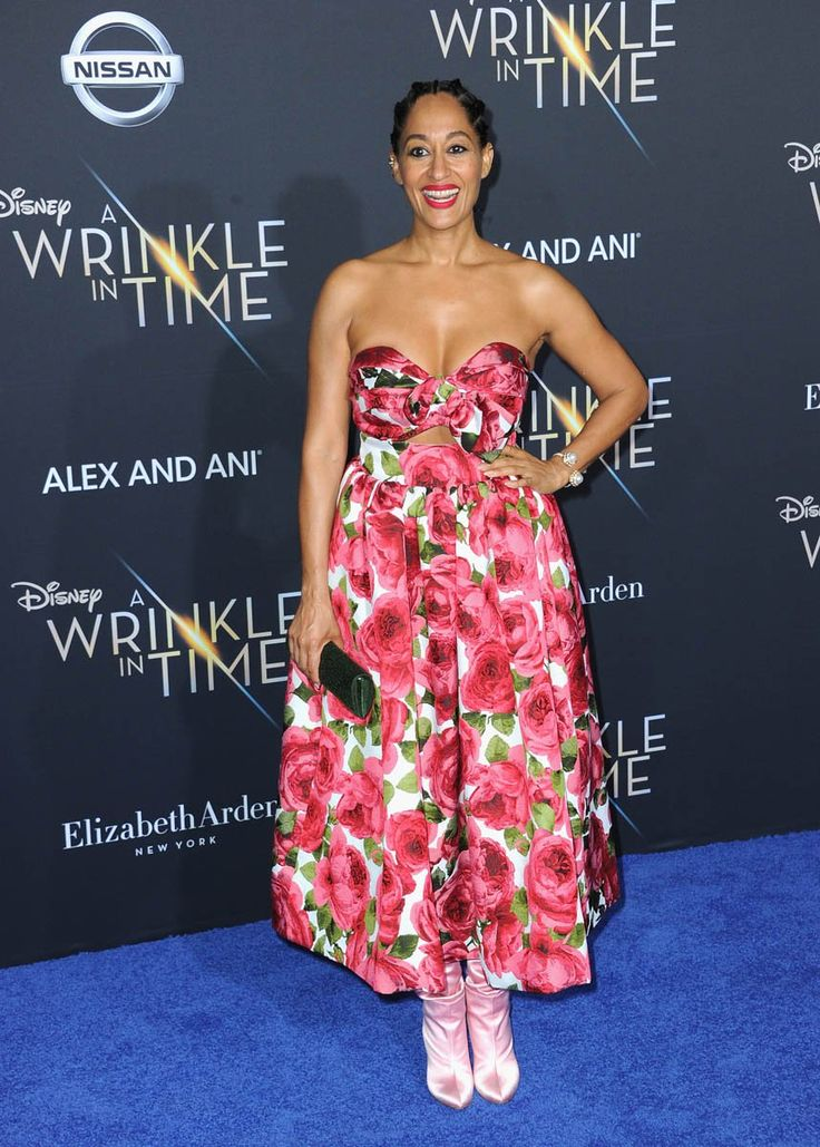 Tracee Ellis Ross attends Premiere Of Disney's 'A Wrinkle In Time' - Arrivals on February 26, 2018 in Los Angeles, California