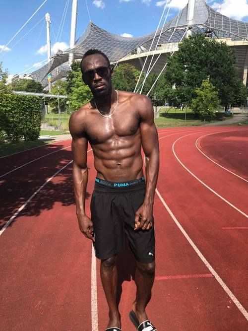 No days off 🙌🏽👌 Usain Bolt, July 2017