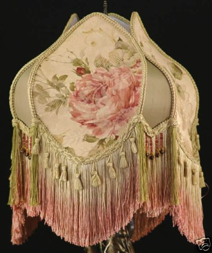 17 best lamp shade ideas images on pinterest lampshades lamp vintage style victorian lamp shade pink large roses burgundy sage light gold aloadofball Choice Image