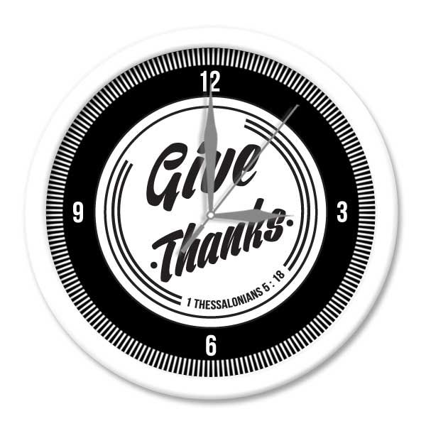 Jam Dinding SWORDS -Give Thanks  Putih