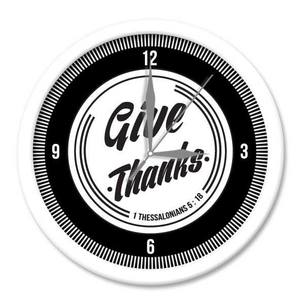 Jam Dinding SWORDS -Give Thanks  Putih