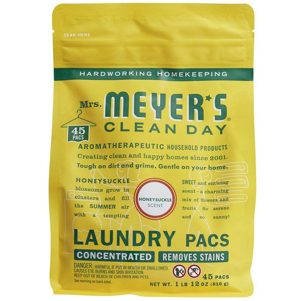 Mrs Meyer S Clean Day 306116 Honeysuckle 45 Count Laundry