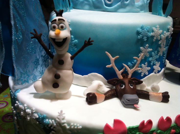 Dettagli della Torta Frozen x la mia bambina #torta #Frozen #chiryscakes #disney #cakedesign #Olaf #Sven #fondant