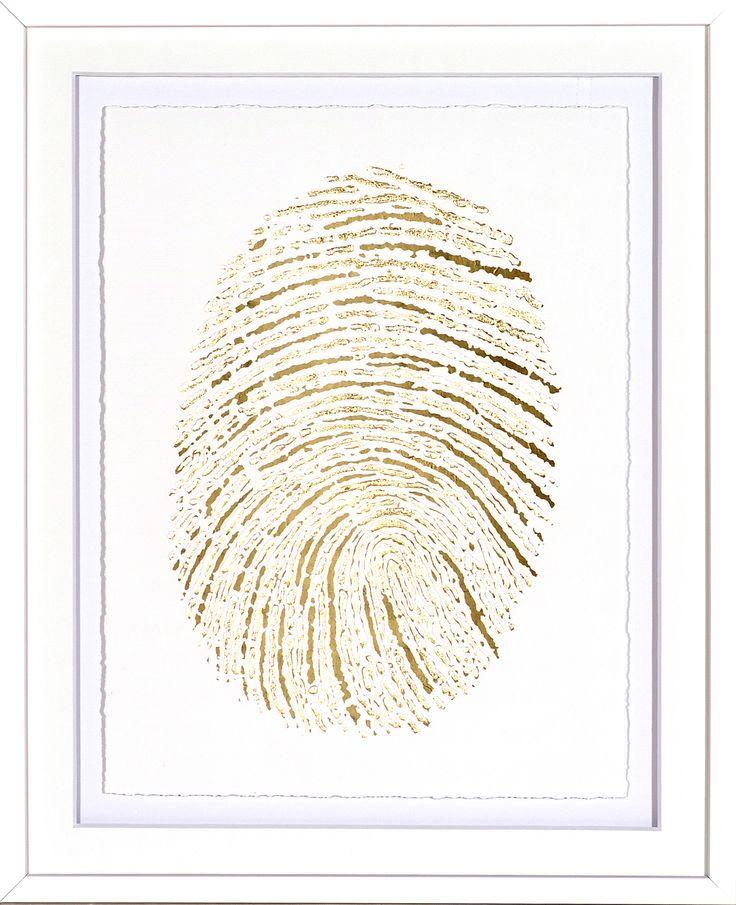 Gold Finger Print I
