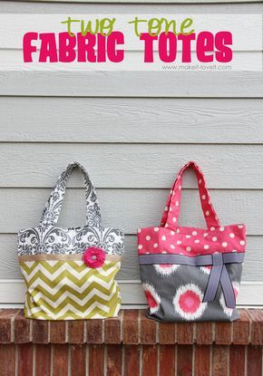 Fabric Tote - free pattern from Make It and Love It