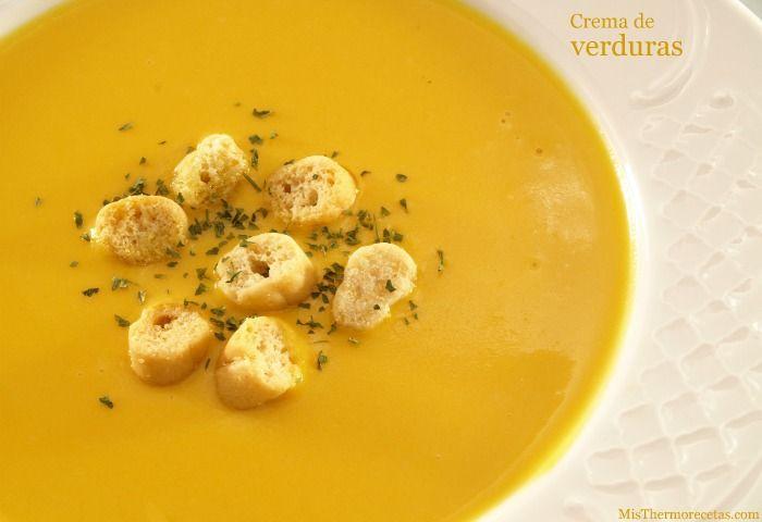 Crema de verduras - MisThermorecetas.com