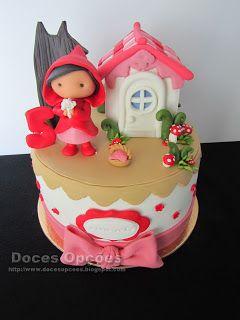 Doces Opções: Bolo de aniversário Capuchinho Vermelho