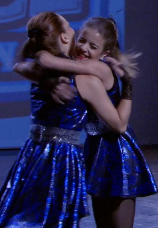 Riley and Chloe hugging