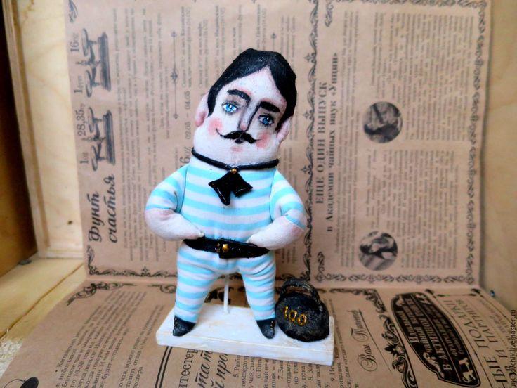 Купить ретро мужчина. Цирк.моряк.винтаж в полосочку.circus man retro.vintage - в полосочку