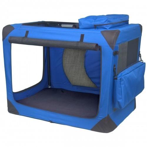 Portable Soft Dog Crate Blue Sky – Bark Label