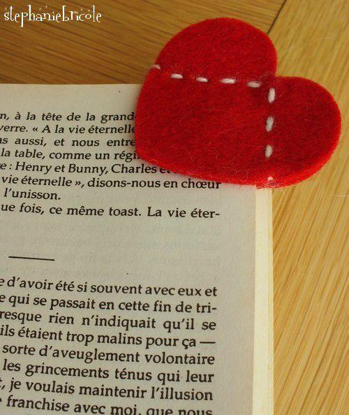 marque page saint valentin