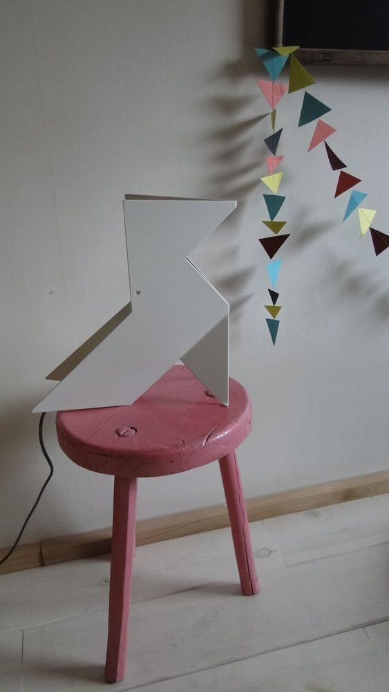 Grande lampe origami Nathalie Be