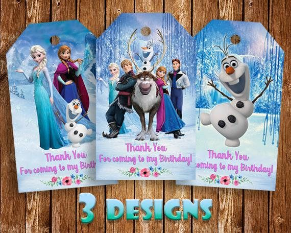 Frozen Thank You Tags Frozen Tags Elsa Thank You Tags