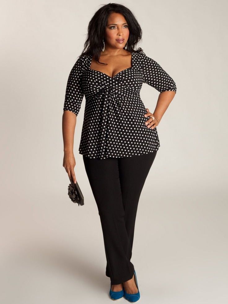 A flirty polka dot prink in classic black and white, coupled with a strategic seaming, artful folds and 3/4 sleeves makes this top timeless