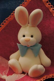 Bunny for cake topper, use pink bow