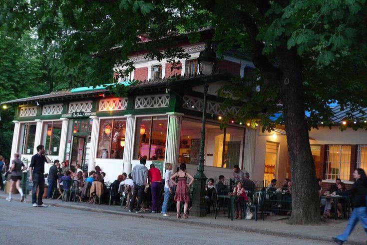 Rosa Bonheur, Category: French   Parc des Buttes Chaumont  2 allée de la Cascade  75019 Paris   Neighborhoods: Buttes Chaumont, 19ème  01 42 03 28 67  http://www.rosabonheur.fr/  Nearest Transit Station:  Botzaris  Buttes Chaumont  Jourdain  Hours:  Wed-Sat 12 pm - 9:30 pm  Sun 12 pm - 5 pm  Accepts Credit Cards:Yes  Crowded. Food, then turns into dance club.