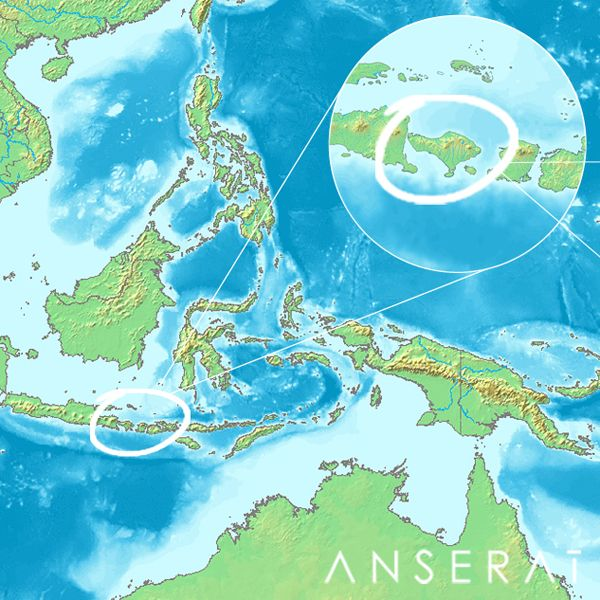 Indonesia Map // debut sourcing trip for Anserai // www.anserai.com
