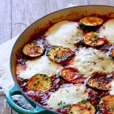 Skillet Chicken and Zucchini Parmesan