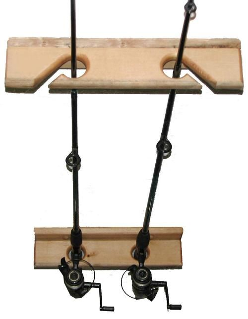 1000 ideas about fishing rod rack on pinterest rod rack for Fishing rod ceiling rack